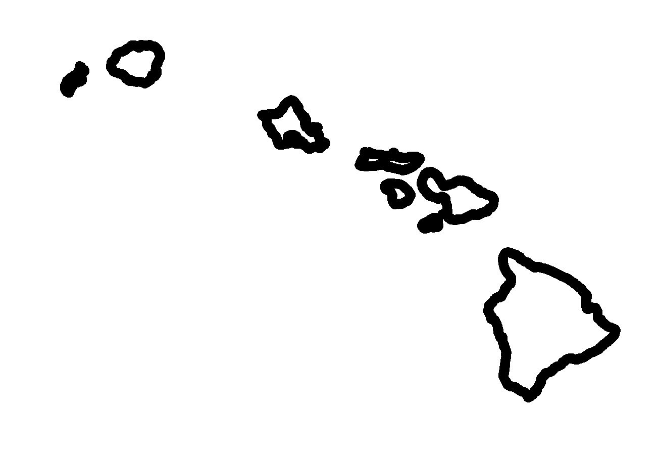 Outline - Stock Maps - Maps of Hawaii - Maps for entire state and ...
